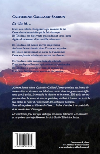 Es-Tu là..., poèmes, Catherine Gaillard-Sarron 2012
