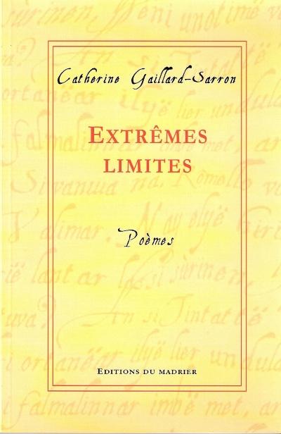 Poèmes publiés aux Ed. du Madrier de Catherine Gaillard-Sarron