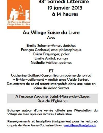 19.1.13 Présentation CD St Pierre de Clages
