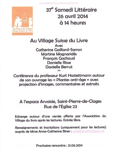 Lecture St Pierre 26 avril 2014