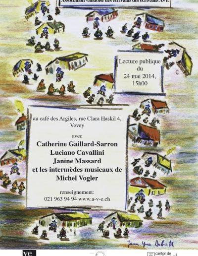 Lecture AVE Café Café des Argiles Vevey  le 24.5.14