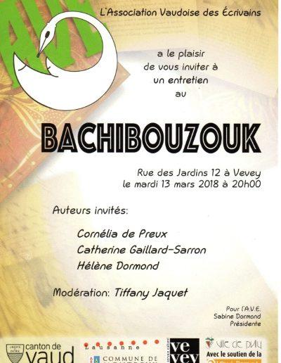 Lecture AVE au Bachibouzouk à Vevey le 13.3.18