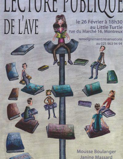 Lecture AVE Littl Turttle Vevey le 26.2.12