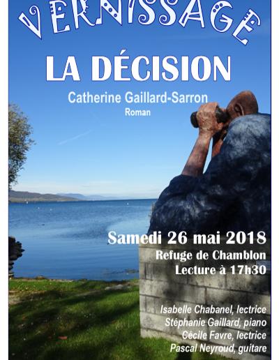 Affiche La Décision-26.05.18