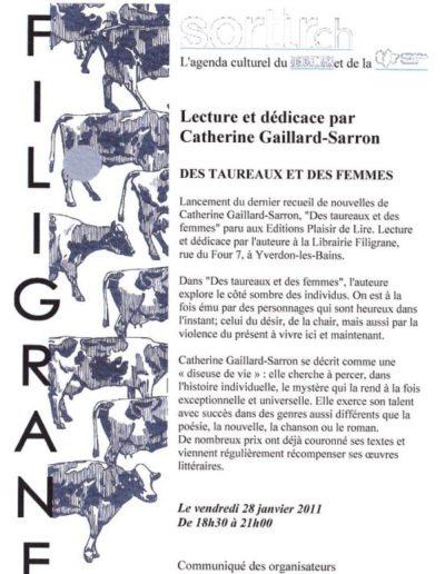 28.1.11 Annonce Lecture Filigrane