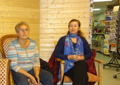 Lecture à la ibrairie Padi à la Sarraz le 15.9.17
