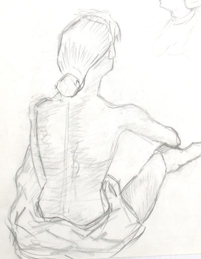 Femme assise Paint