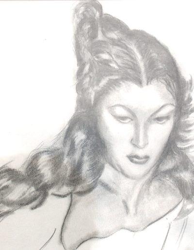 Femme au cheveux pAINT