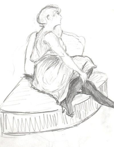 Femme bas paint