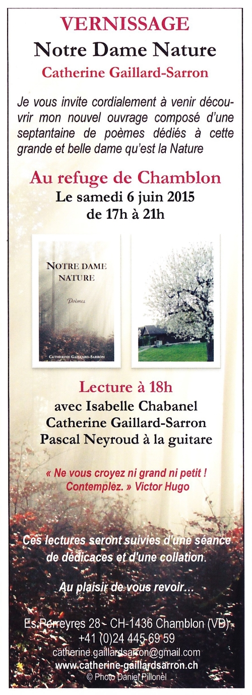 Invitation Notre Dame Nature