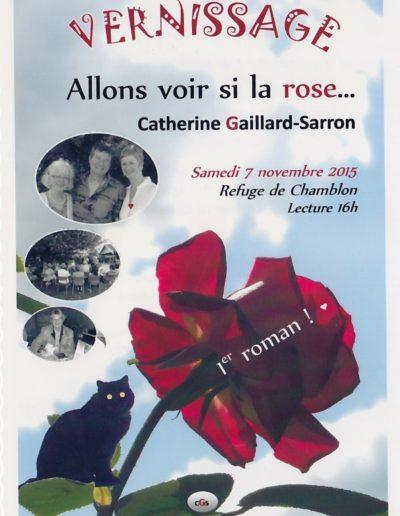 Invitation Allons voir si la rose