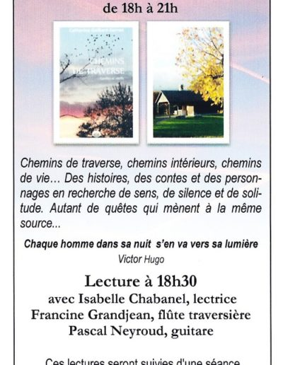 Invitation Chemins de traverse