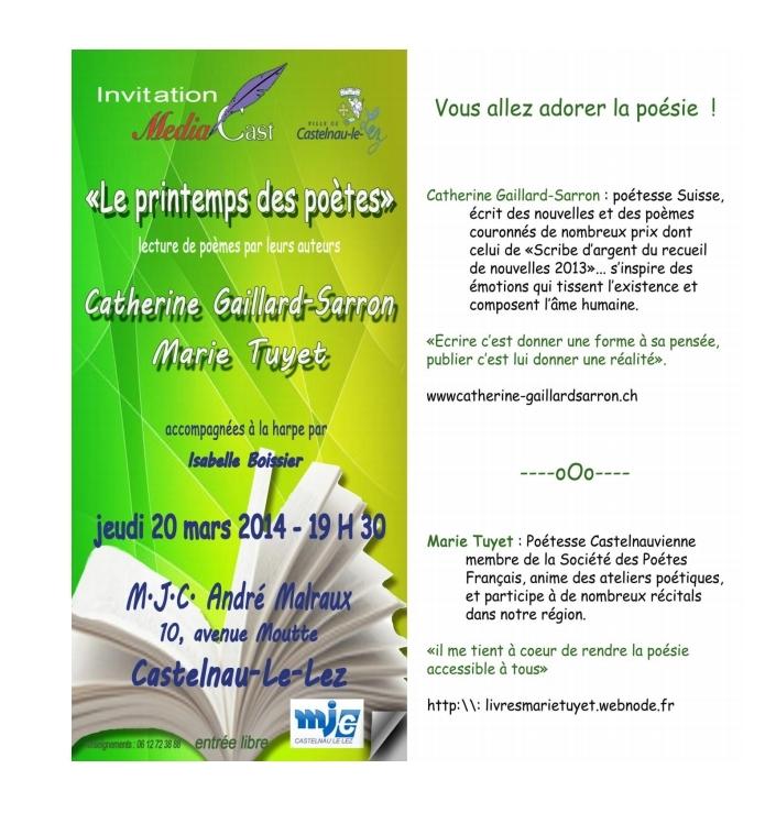 20.3.14 Récital Poésie Castelnau
