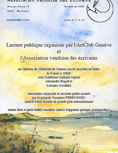 Lecture Chatelard Montreux 9.3.13