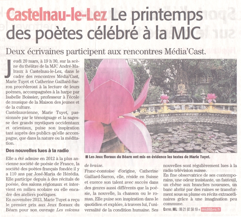 18 mars 2014  Midi Libre