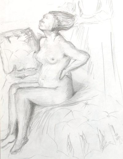 femme peigner paint