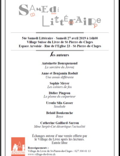 Lecture St Pierre de Clages 27.4.19