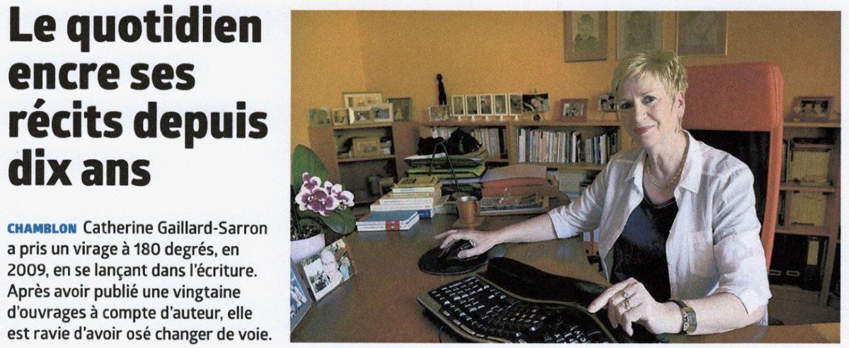 Article Journal la Région_Catherine Gaillard-Sarron_26.4.19