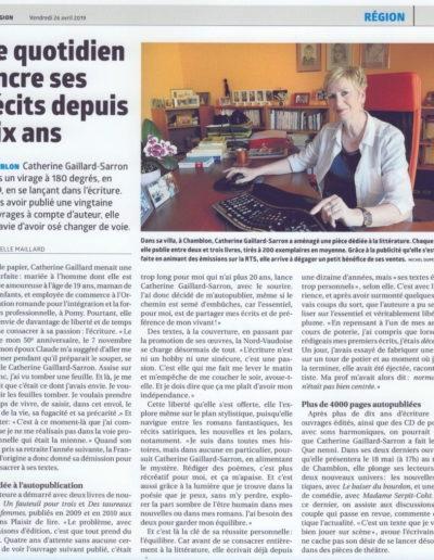 La Région, Catherine Gaillard-Sarron 26.4.19