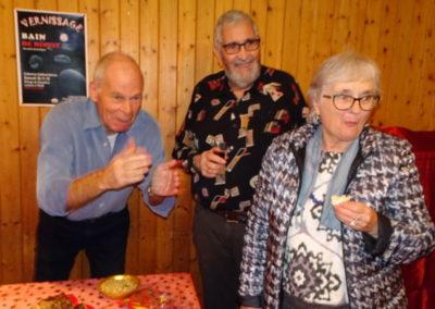 Vernissage des ouvrages Bain de minuit, l'amour est aveugle et Frère d'Âme, le 30.11.19 à Chamblon