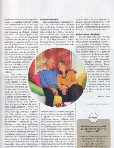 Catherine Gaillard-Sarron Mag Générations avril 2020