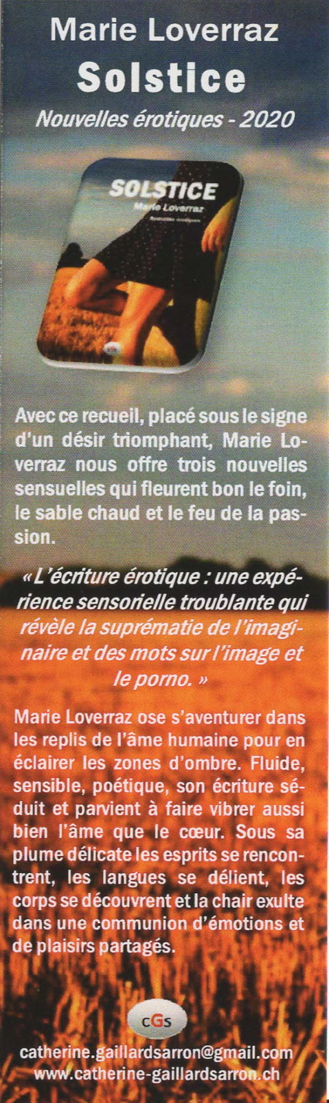 Marque-page solstice